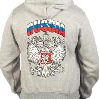 Толстовка «RUSSIA» серая