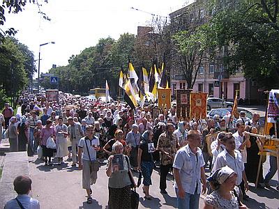 Православные флаги в Киеве