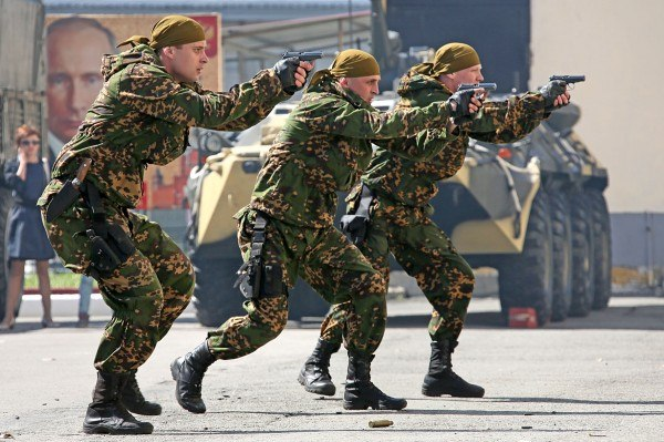 Тренировка войск Спецназа