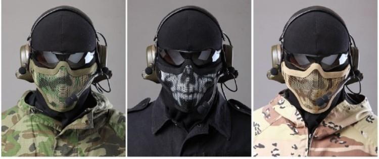 страйкбол защитная маска с очками