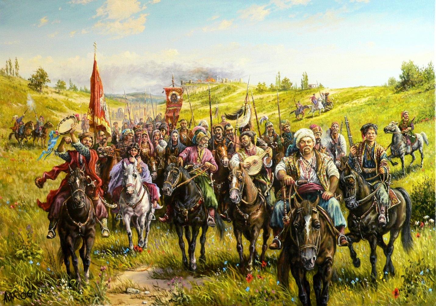 В средние века наградой казачества была военная добыча