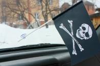 Флажок Пиратский с повязкой