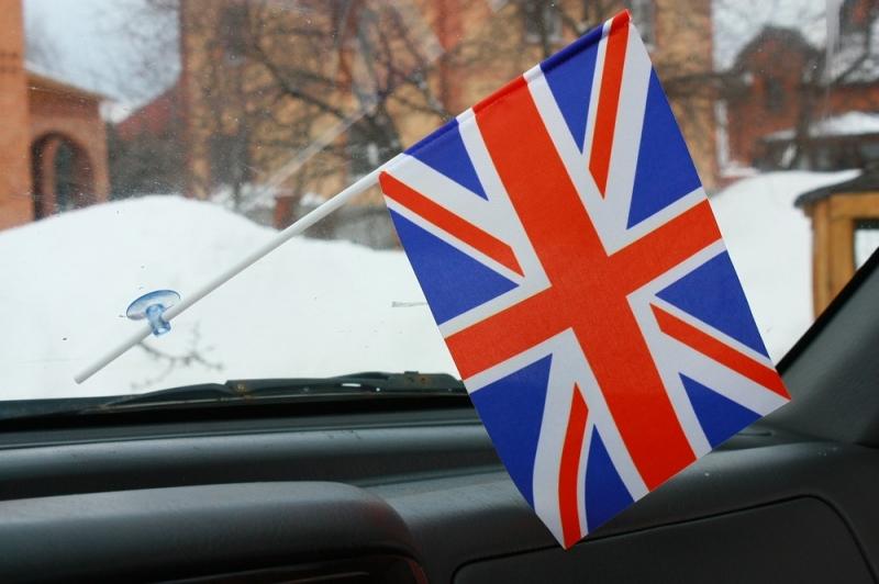 Флаг Великобритании в автомобиль на присоске
