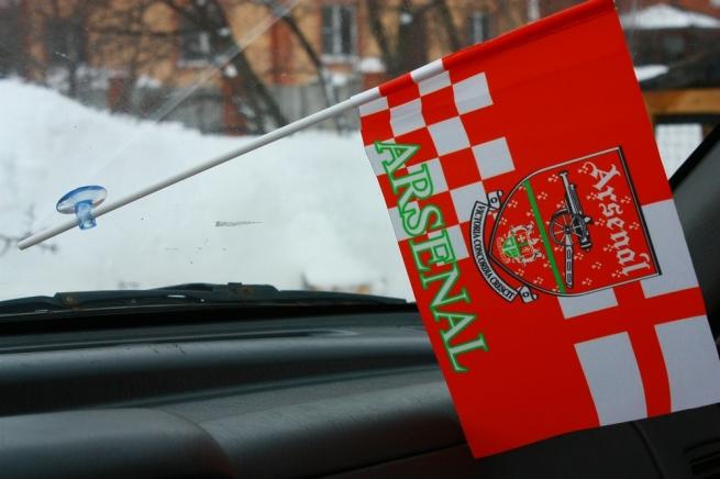 Флажок в машину с присоской ФК Арсенал