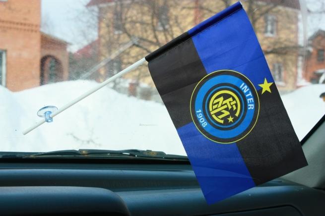 Флажок в машину с присоской ФК Интер