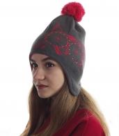 Актуальная женская шапка-шлем. Задорный дизайн для классных девчонок