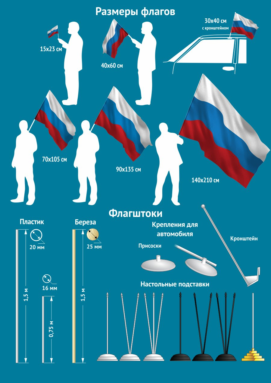 Алуштинский флажок разнообразных форматов