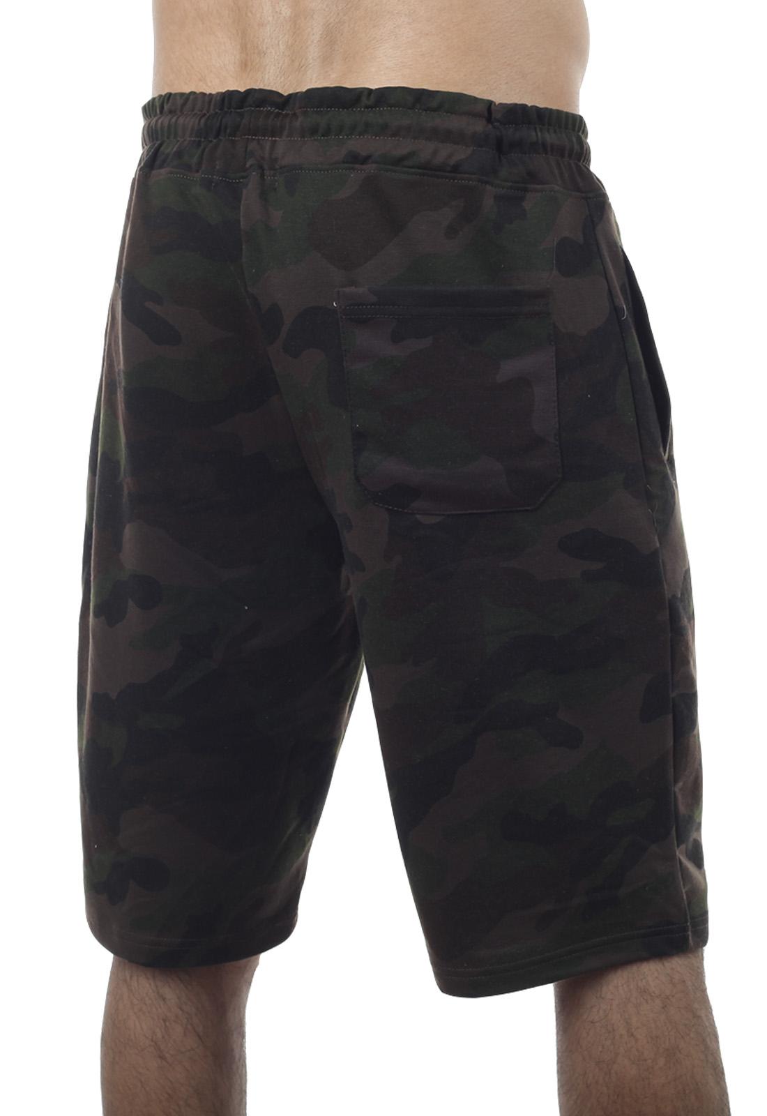 Купить армейские шорты камуфляж на резинке