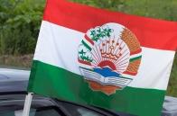 Автомобильный флаг Таджикистана с гербом