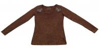 Базовая коричневая кофточка в стиле Casual от Panhandle Slim для смелых решений
