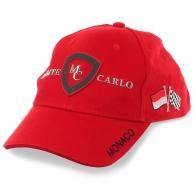 Ярко-красная бейсболка Monaco Monte-Carlo – модель для фанатов гонок Формулы-1 и отчаянных стритрейсеров