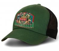 Зеленая бейсболка с дизайном «100 лет Погранвойскам»