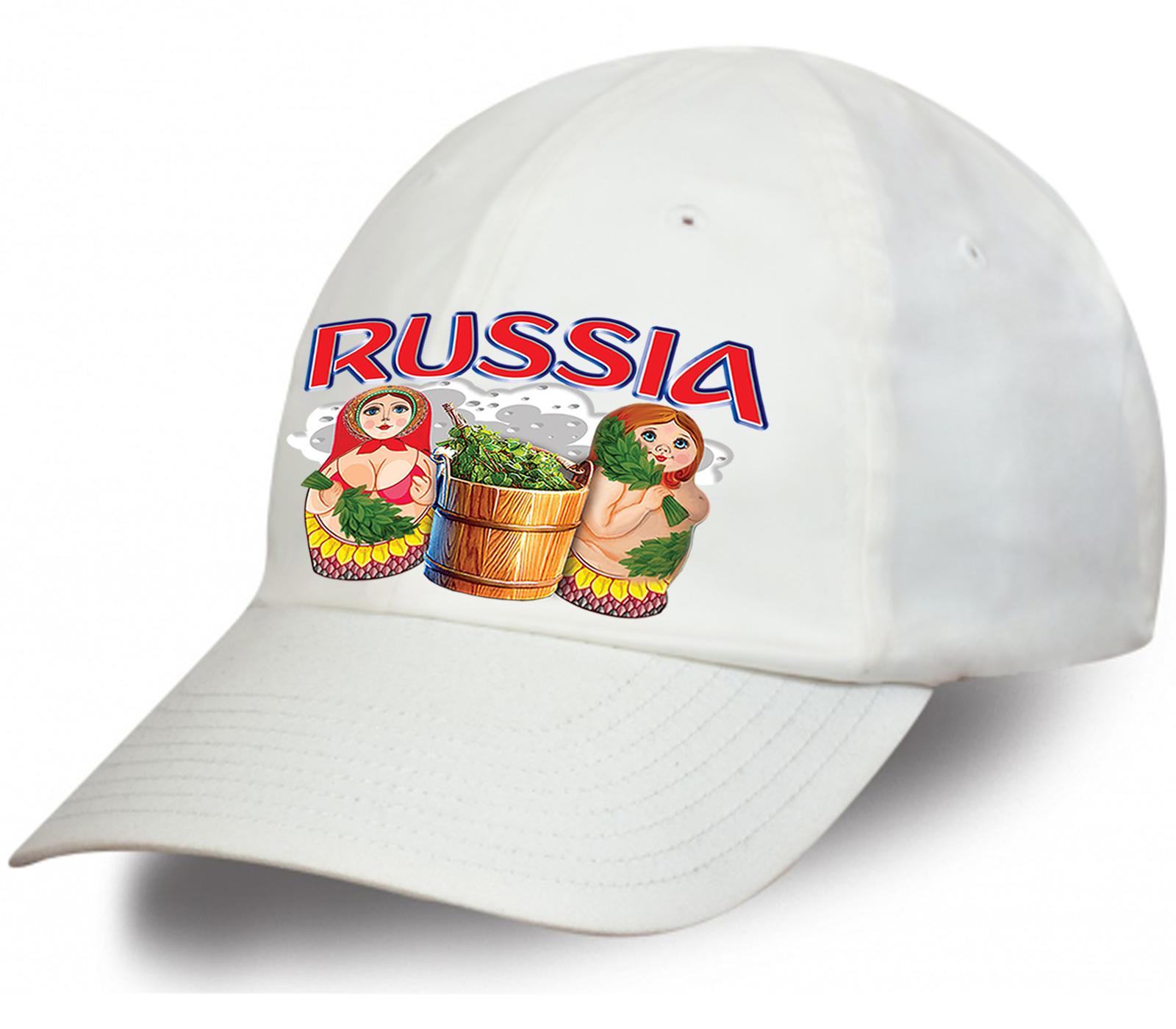 Купить в Москве бейсболку с принтом «Россия»