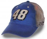 Синяя бейсболка с номером 48!