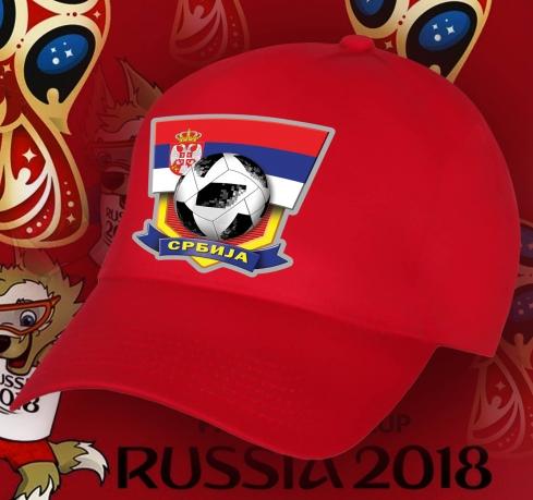 Бейсболка с принтом «Одна команда, одна мечта — Сербия».
