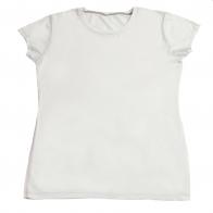 Белая футболка из 100% хлопка. Классическая модель