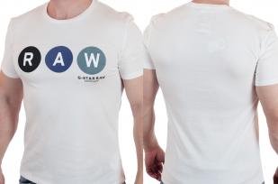 Белая футболка с брендовым принтом от G-Star Raw® с доставкой