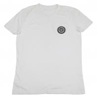 Белая футболка с округлым воротом. Натуральный хлопок, классическая модель