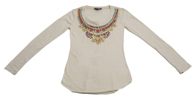 Белая кофточка с ярким оригинальным декором от Rock&Roll CowGirl. Модницы оценят!