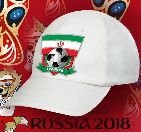 Белая летняя бейсболка фанату Iran