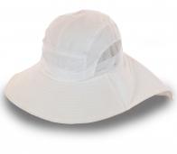 Белая шляпа с сеткой