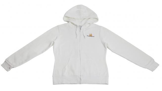 Белое худи Disney - стильная модель с аккуратным логотипом