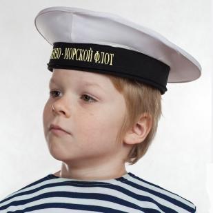 """Бескозырка """"Военно-морской флот"""" белая по выгодной цене"""