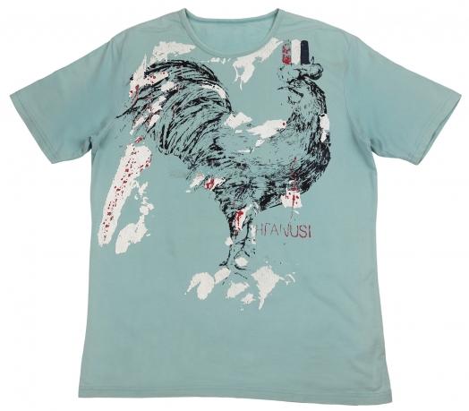 Бирюзовая футболка Splash. Качественный пошив, 100% хлопок