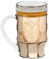 """Бокал для пива """"Герб РФ"""" - подарок другу на Новый год"""