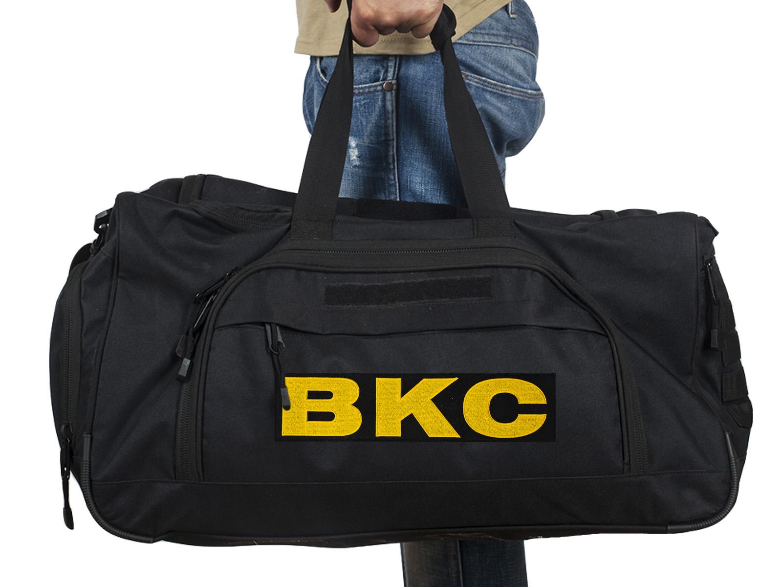 Купить большую военную сумку 08032B Black с нашивкой ВКС по выгодной цене