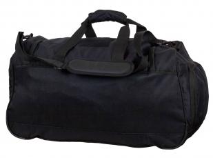 Большая военная сумка 08032B Black с нашивкой ВКС