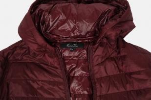 Бордовая короткая женская куртка Rosa Thea (Италия).