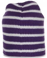 Полосатая привлекательная женская шапка Neff