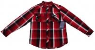 Брендовая рубашка Machine в красную клетку