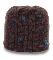 Брендовая зимняя мужская шапка Barts утепленная флисом современная модель