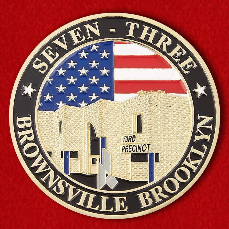"Brooklyn's 73rd Precinct ""Fort Zinderneuf"" Challenge Coin - obverse"