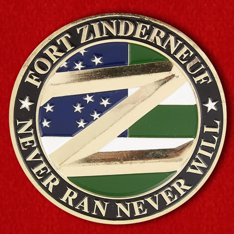 "Brooklyn's 73rd Precinct ""Fort Zinderneuf"" Challenge Coin - reverse"