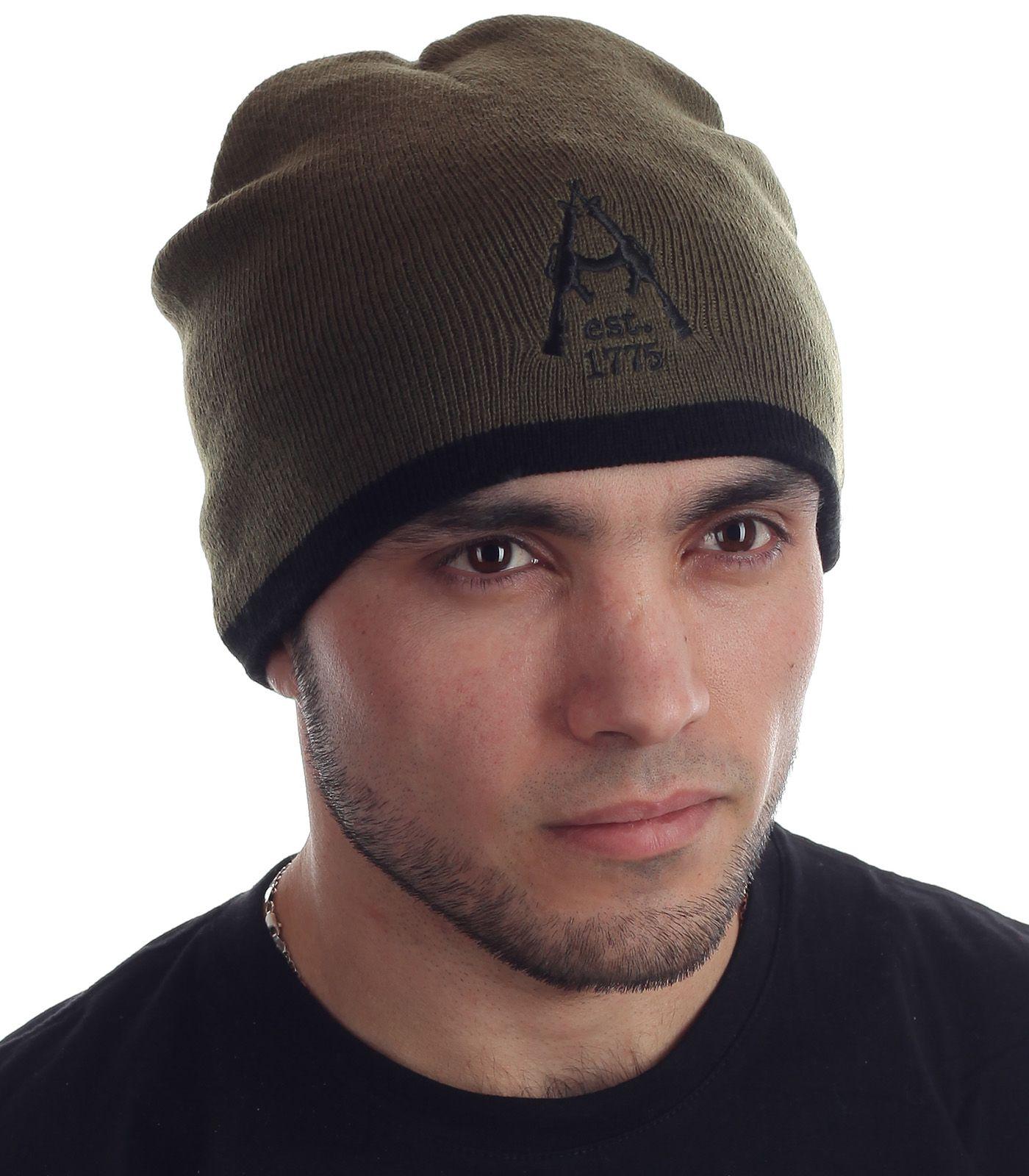 Купить мужскую шапку хаки онлайн