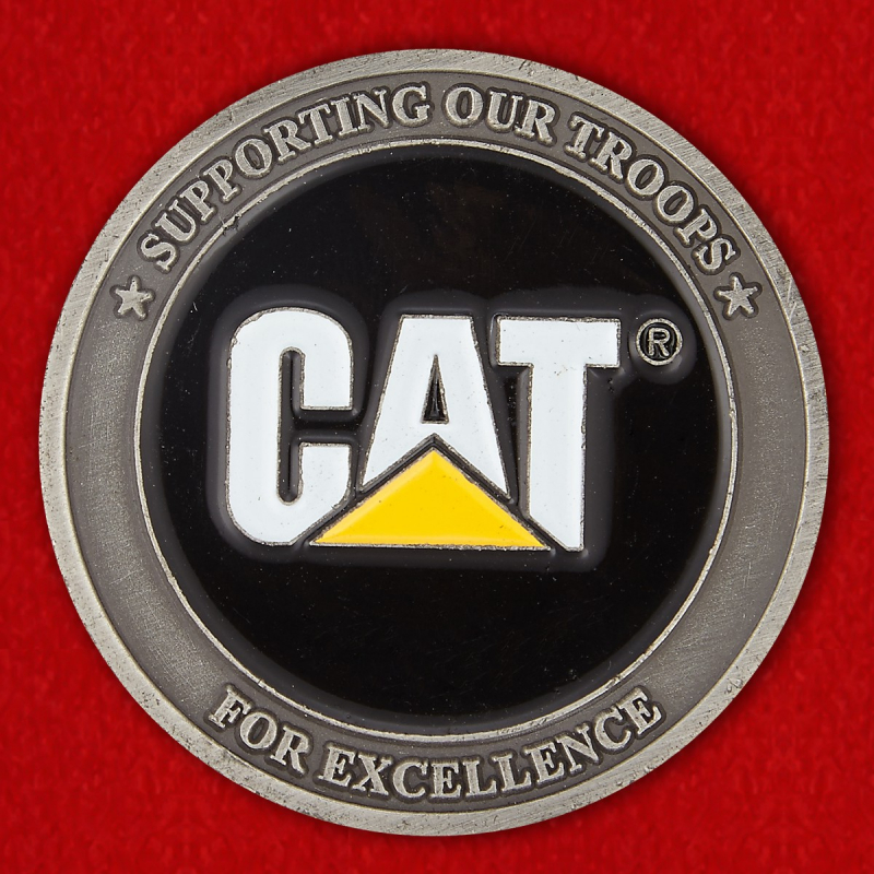 "Caterpillar's ""Supporting Our Troops"" Challenge Coin of Excellence - reverse"