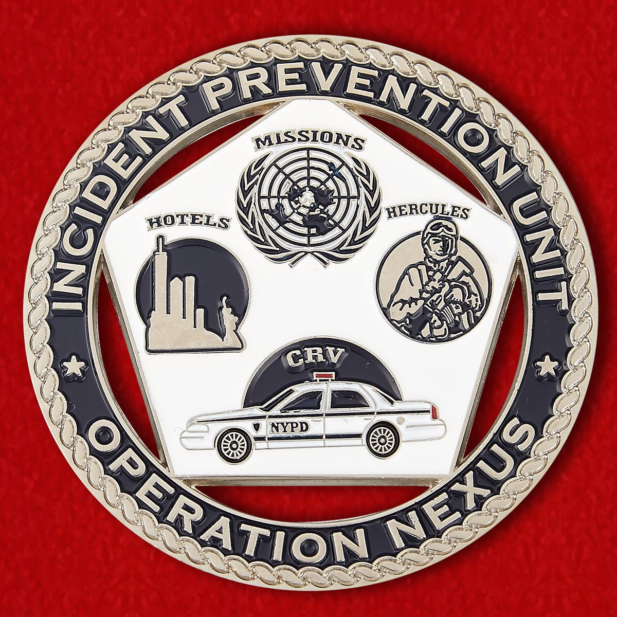 Challenge coin Intelligence Bureau police in New York City