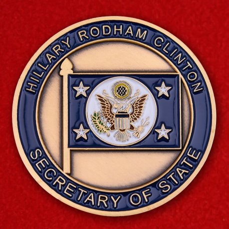 "Challenge Coin ""Secretary of the US State Department Hillary Clinton"""