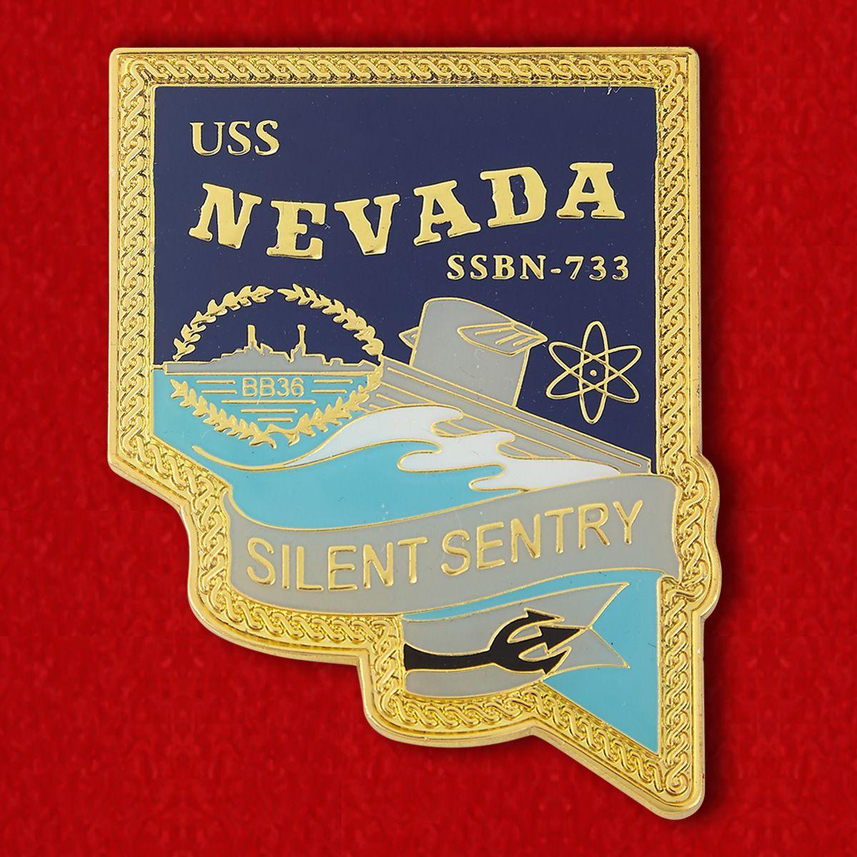 """Challenge Coin """"USS NEVADA SSBN-733"""""""