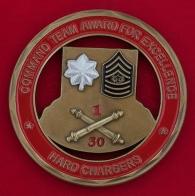 Челлендж коин 1-го батальона 30-го полка полевой артиллерии Армии США