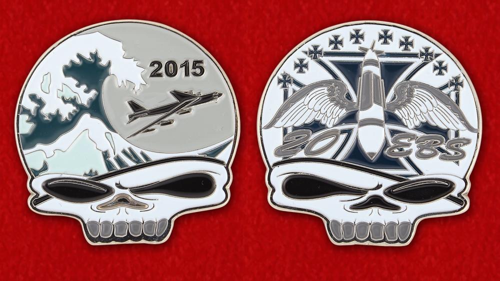Челлендж коин 20-й экадрильи бомбардировщиков Командования глобальных ударных сил ВВС США - обе стороны