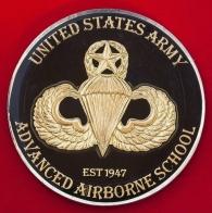 Челлендж коин десантной школы повышения квалификации Армии США