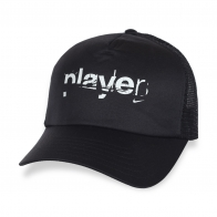 Черная бейсболка Player