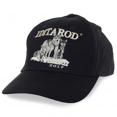 Черная бейсболка Iditarod – эффектная символика ежегодных гонок на собачьих упряжках в Аляске. Будь тем, кто ты есть!