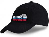 Черная кепка Russia