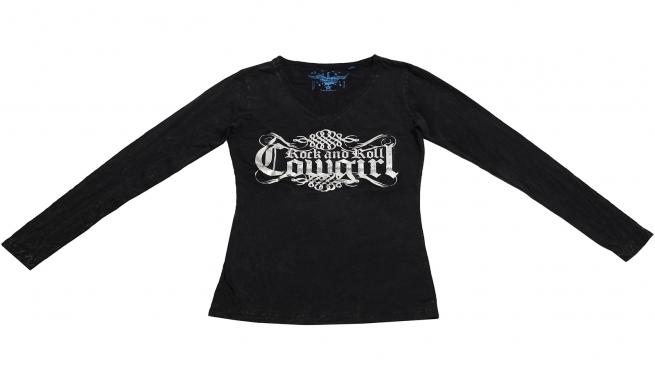 Черная модная кофточка с логотипом бренда Rock&Roll CowGirl на каждый день