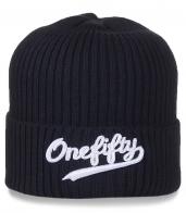 Черная мужская шапка One Fifty